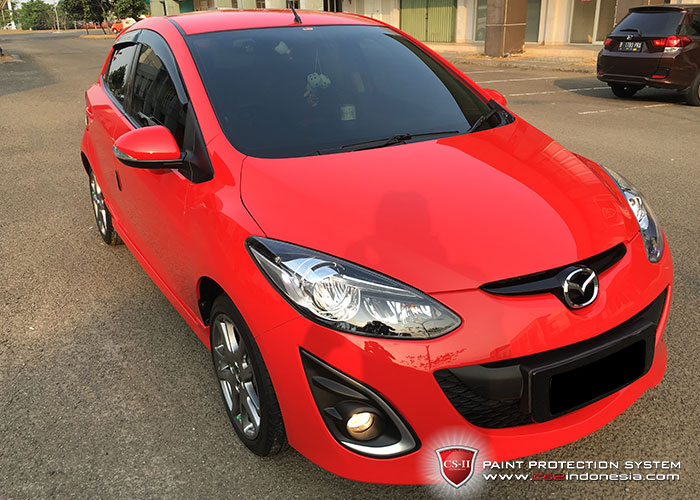 CS-II Paint Protection Indonesia Red MazdaGlossy