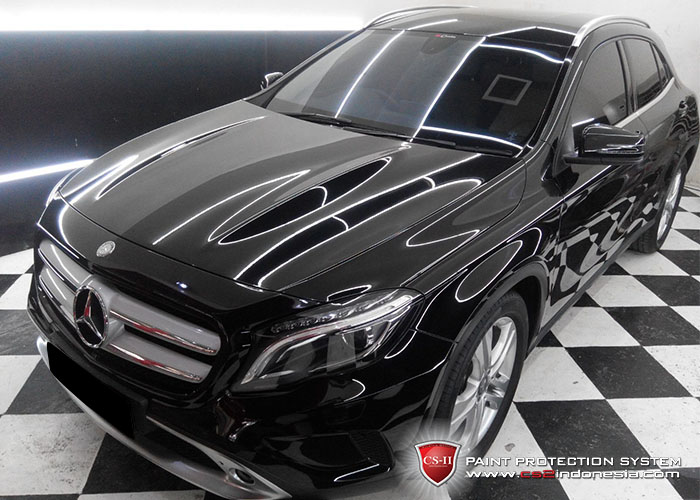 CS-II Paint Protection Indonesia Black Mercedes Benz Glossy