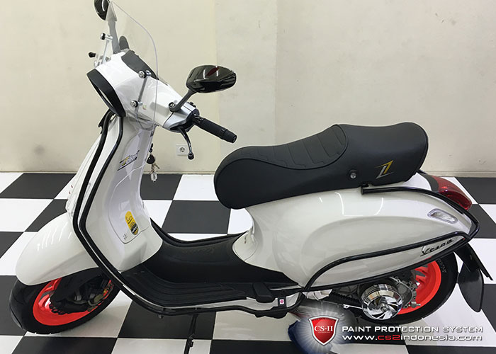 CS-II Paint Protection Indonesia White Piaggio Vespa Glossy