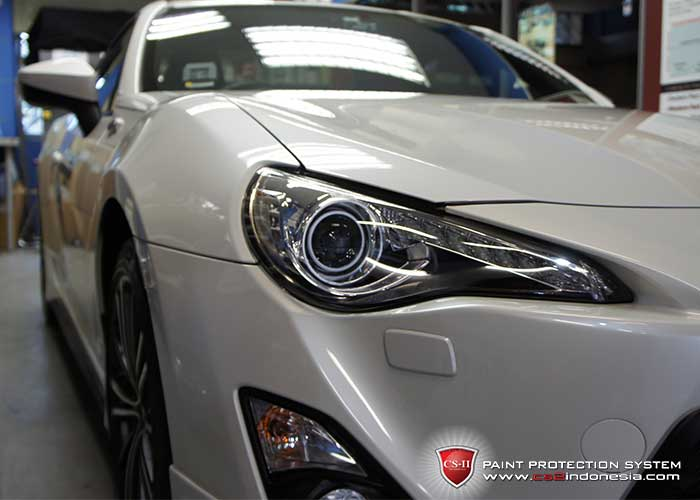 CS-II Paint Protection Indonesia White Toyota 86 Glossy