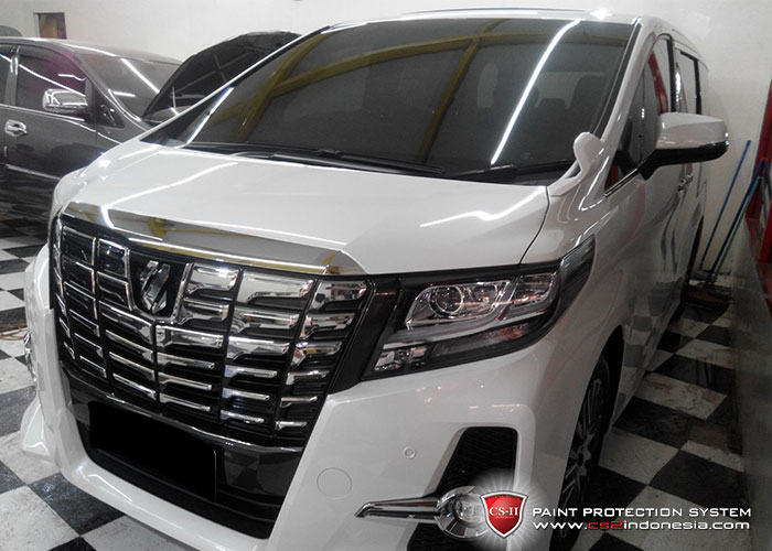 CS-II Paint Protection Indonesia White New Toyota Alphard Glossy