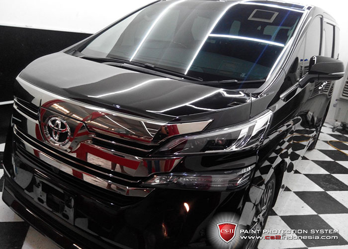 CS-II Paint Protection Indonesia Black Toyota Vellfire 2016 Glossy