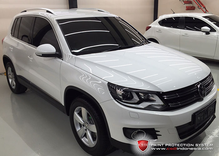 CS-II Paint Protection Indonesia White VW Tiguan Glossy