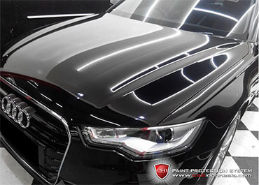 CS-II Paint Protection Indonesia Black Audi Glossy