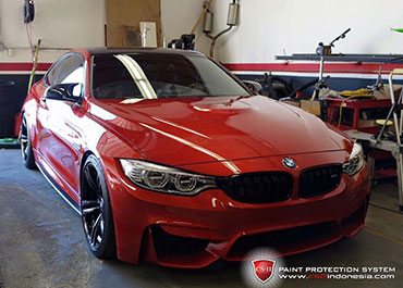 CS-II Paint Protection Indonesia Red BMW Glossy