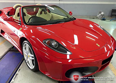 CS-II Paint Protection Indonesia Red Ferrari Glossy