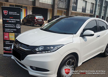 CS-II Paint Protection Indonesia White Honda HRV Glossy