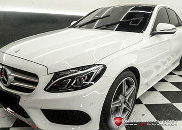 CS-II Paint Protection Indonesia White Mercedes Benz Glossy