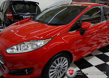 CS-II Paint Protection Indonesia Red Ford Fiesta Glossy