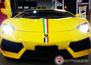 CS-II Paint Protection Indonesia Yellow Lamborghini Aventador Italian Series Glossy