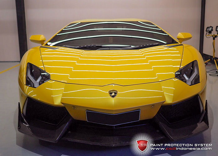 CS-II Paint Protection Indonesia Yellow Lamborghini Aventador Glossy